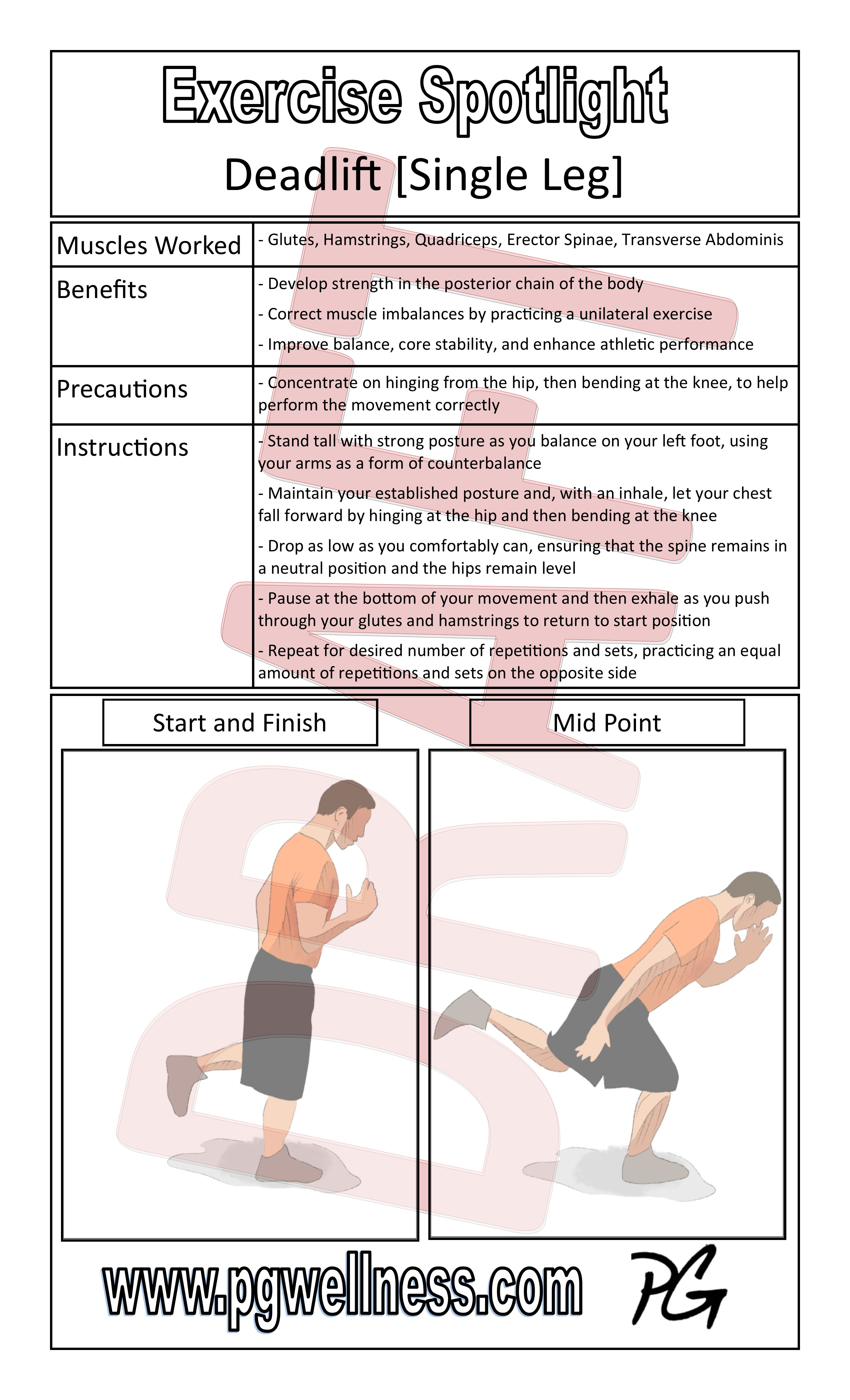 Exercise Spotlight Posters | PGWellness